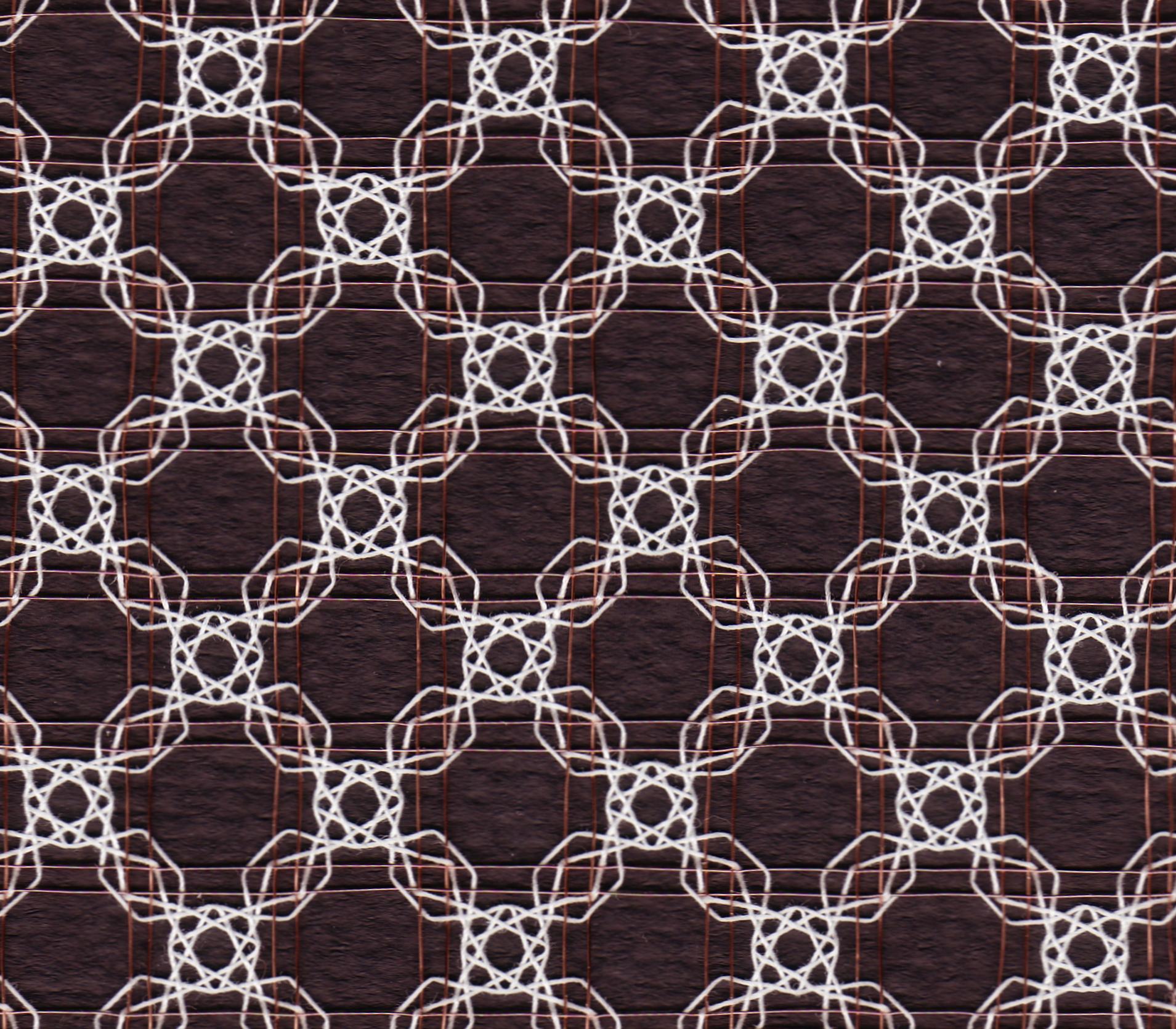 White roses on a copper lattice